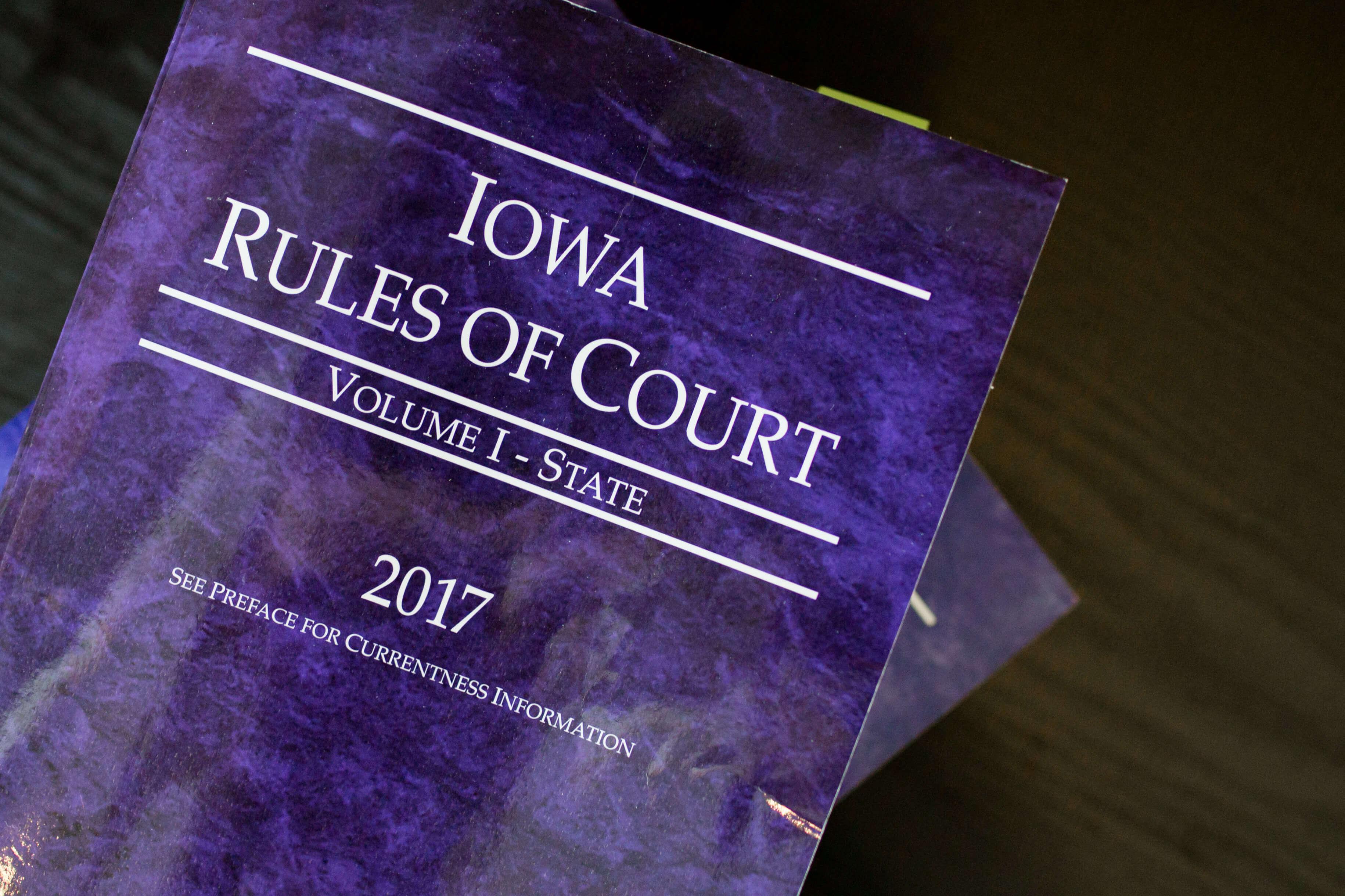 Putnam, Fern & Thompson Law Office | Iowa Rules Of Court
